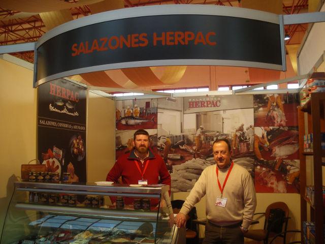 Stand de Salazones Herpac, de Cádiz. Clientes de Galdón Software.