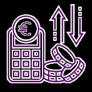 icono análisis gastos y beneficios