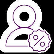 icono descuentos personalizados