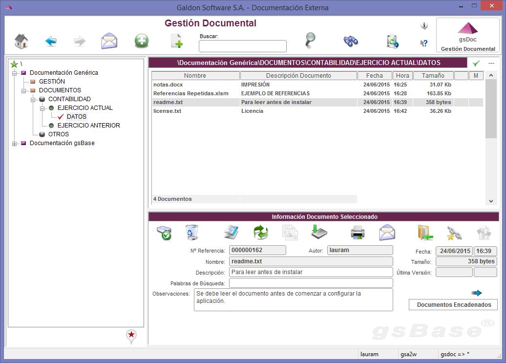 gsBase gestión documental cloud storage